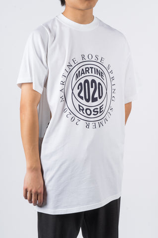 MARTINE ROSE TWO-WAY TSHIRT WHITE - BLENDS