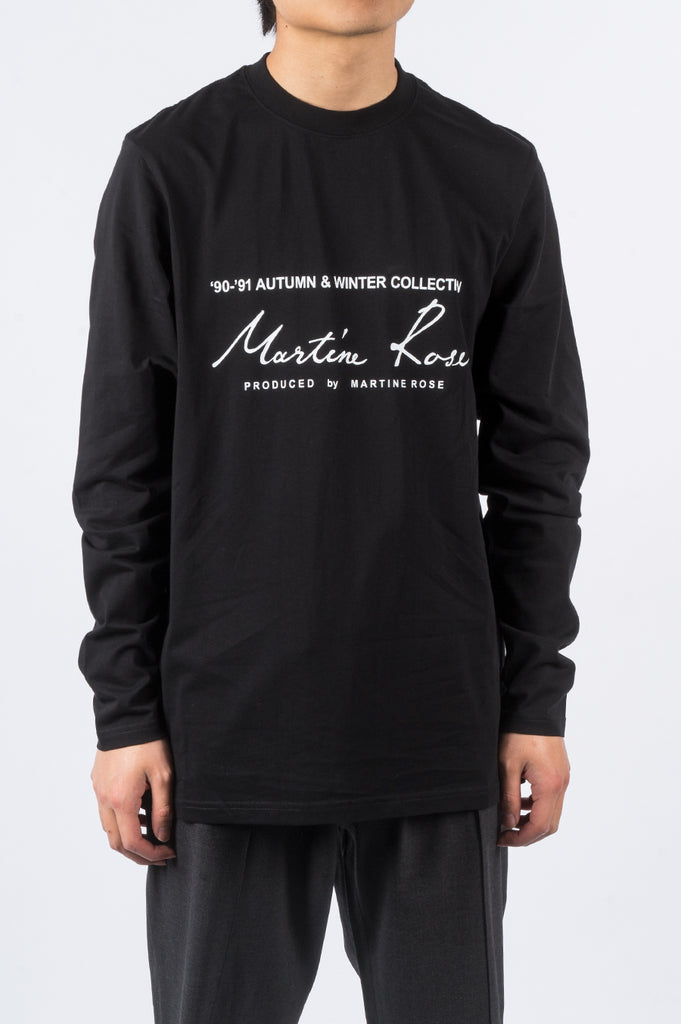 MARTINE ROSE CLASSIC LS THISRT SS20 BLACK - BLENDS