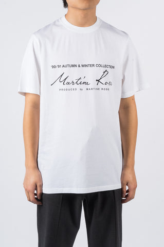 MARTINE ROSE CLASSIC SS THISRT SS20 WHITE - BLENDS