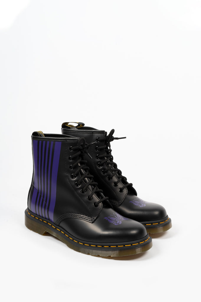 DR MARTENS X NEEDLES 1460 REMASTERED BLACK PURPLE