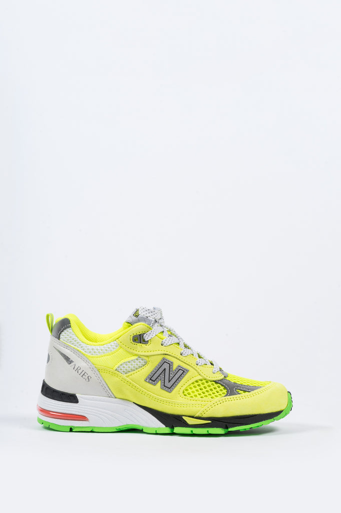 NEW BALANCE X ARIES WOMENS 991 NEON YELLOW