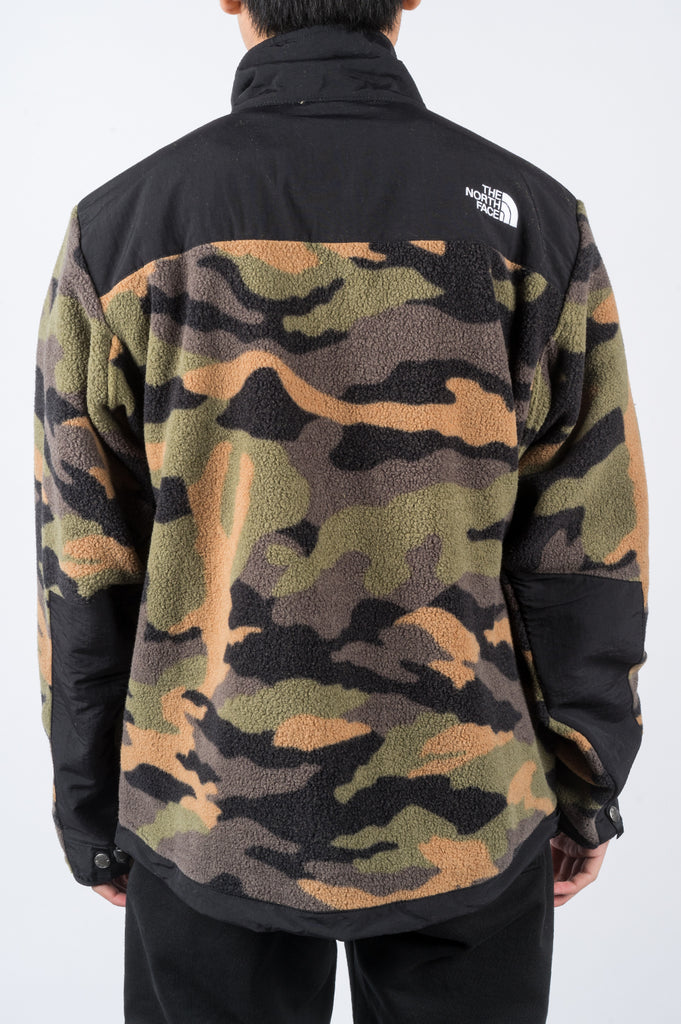THE NORTH FACE 1995 RETRO DENALI JACKET BURNT OLIVE GREEN WAXED CAMO PRINT - BLENDS
