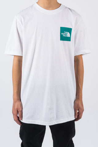 THE NORTH FACE SS NEW BOX TEE WHITE TEAL - BLENDS