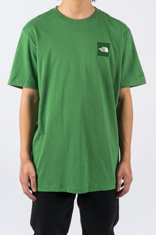 THE NORTH FACE SS BOX TEE SULLIVAN GREEN - BLENDS