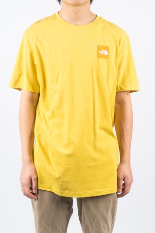 THE NORTH FACE SS BOX TEE YELLOW - BLENDS