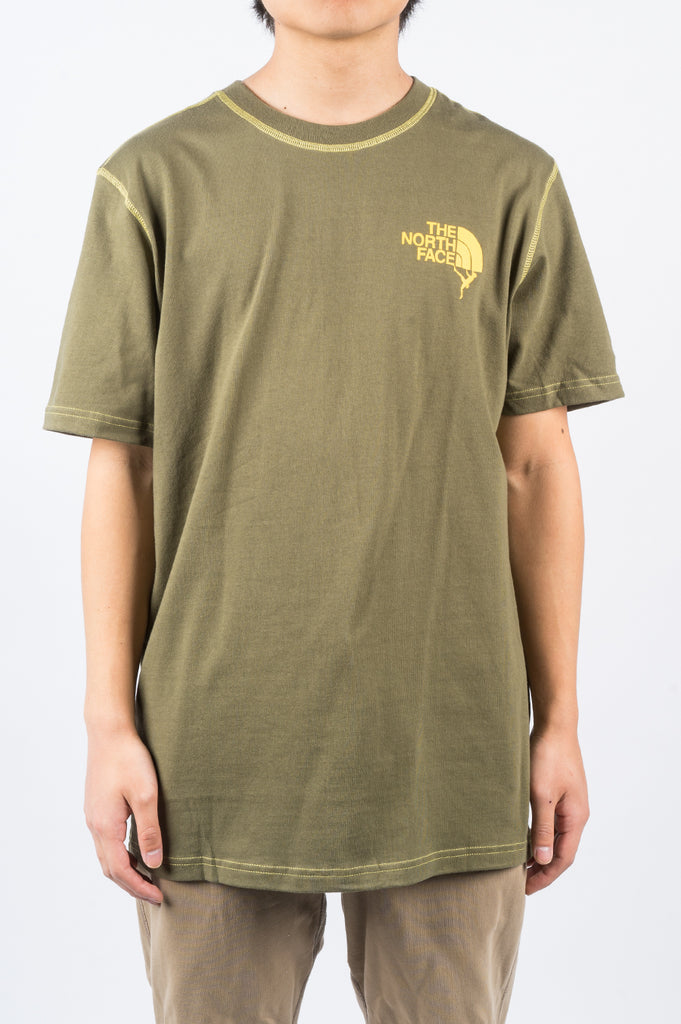 THE NORTH FACE DOME CLIMB TEE BURNT OLIVE GREEN - BLENDS