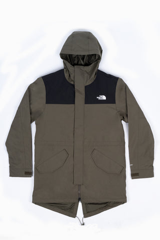 THE NORTH FACE CITY BREEZE RAIN PARKA TAUPE GREEN