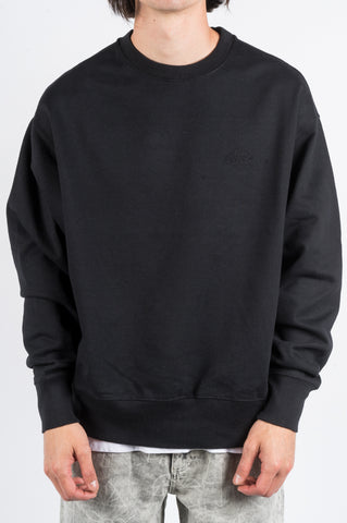 RASSVET EMBROIDERED LOGO SWEATSHIRT BLACK