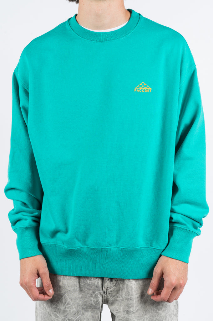 RASSVET EMBROIDERED LOGO SWEATSHIRT TEAL - BLENDS