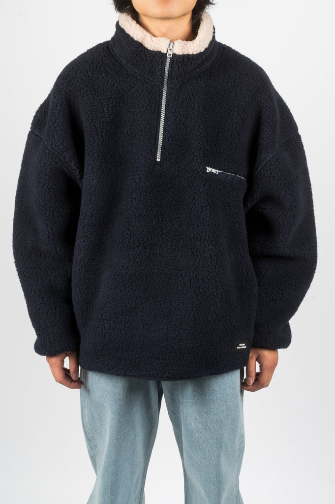 RASSVET PULLOVER FLEECE NAVY