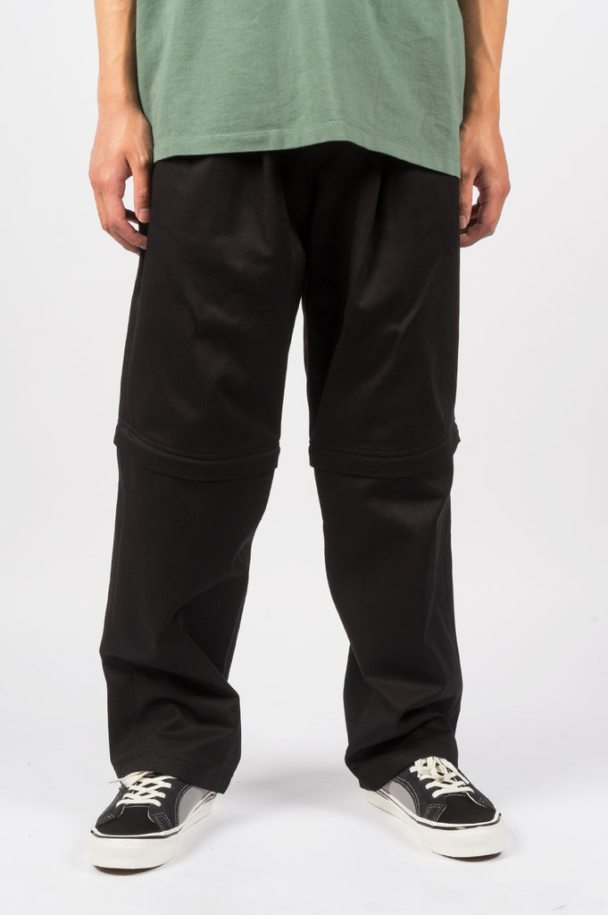 RASSVET ZIP OFF CHINOS BLACK