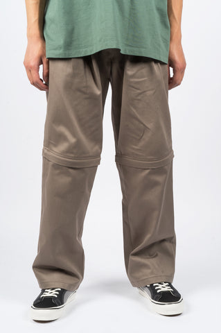 RASSVET ZIP OFF CHINOS KHAKI