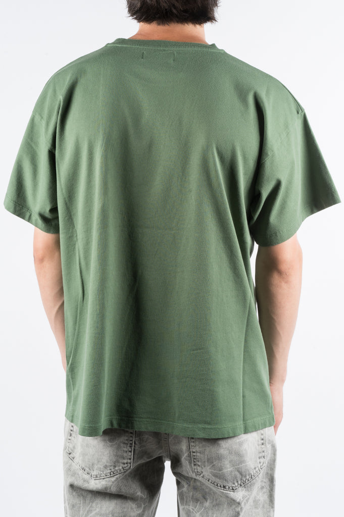 RASSVET LARGE LOGO PRINT TSHIRT GREEN - BLENDS