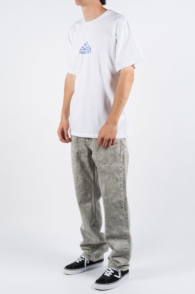 RASSVET PRINTED JEANS LIGHT GREY