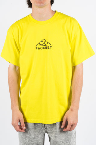RASSVET LARGE LOGO PRINT TSHIRT YELLOW - BLENDS