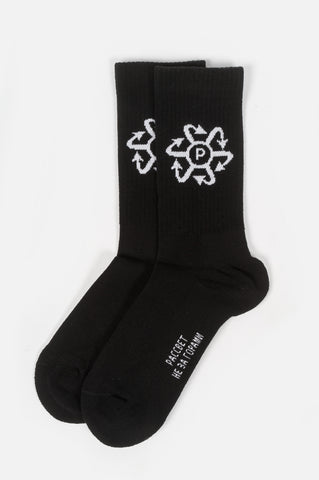 RASSVET JAQUARD SOCKS BLACK