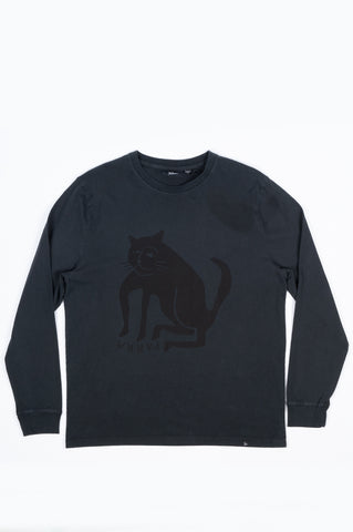 PARRA CAT LONG SLEEVE T-SHIRT BLACK