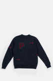 PARRA JUMPING FOX CREWNECK SWEATSHIRT NAVY