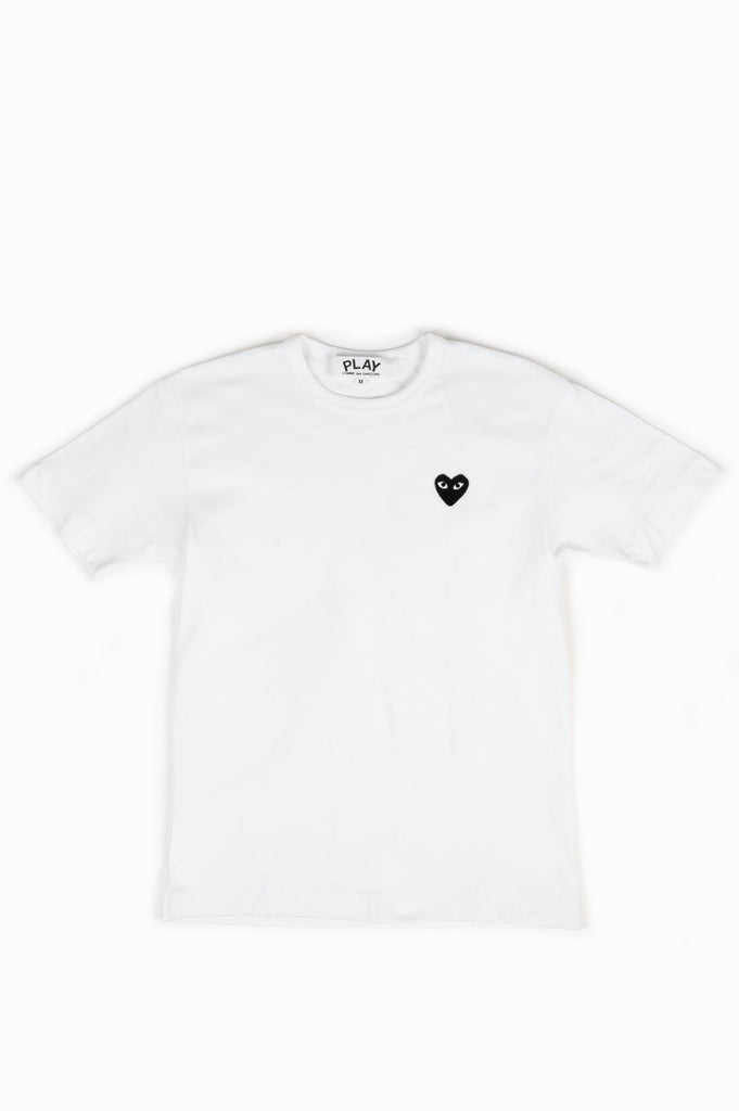 COMME DES GARCONS PLAY SS TSHIRT WHITE BLACK HEART