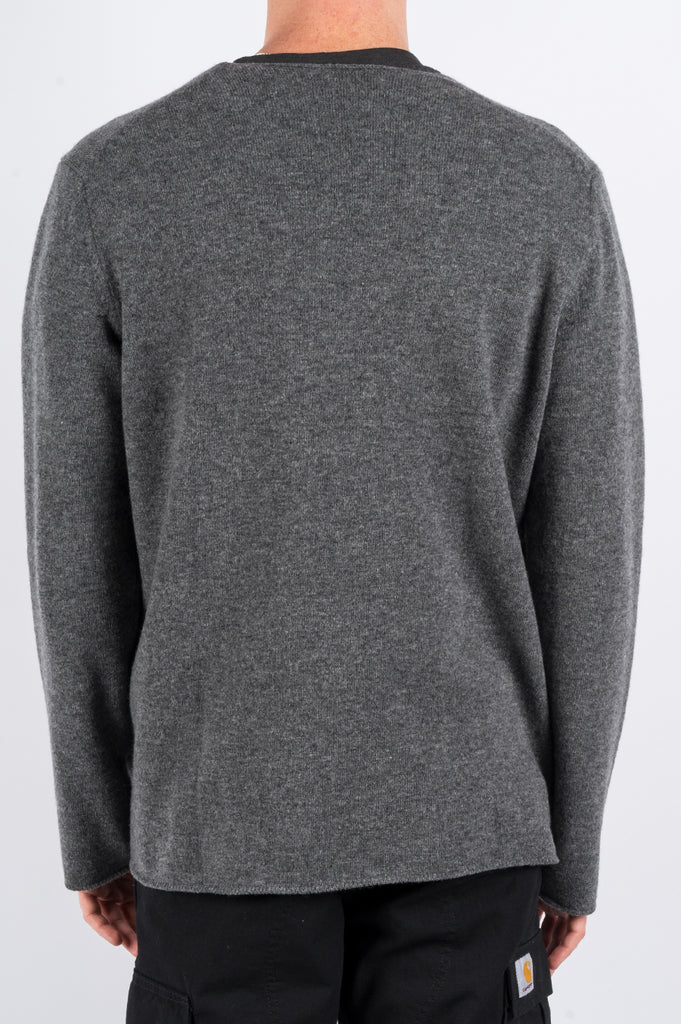 COMME DES GARCONS PLAY BOUNDLESS CREWNECK SWEATER GREY - BLENDS