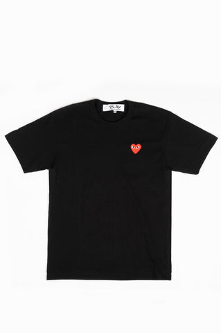 COMME DES GARCONS PLAY SS TSHIRT RED HEART BLACK