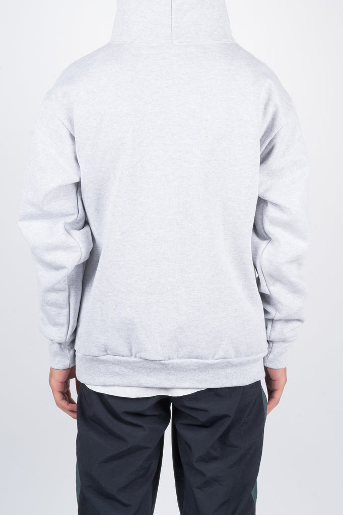 POWERS LION PULLOVER HOOD GREY - BLENDS