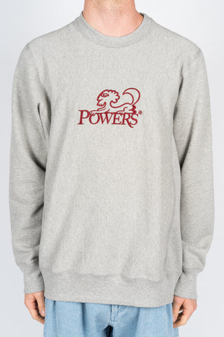 POWERS SPHINX CREW NWCK SWEATSHIRT GREY