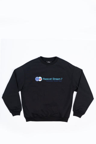 RASSVET STREAM 7 SWEATSHIRT BLACK