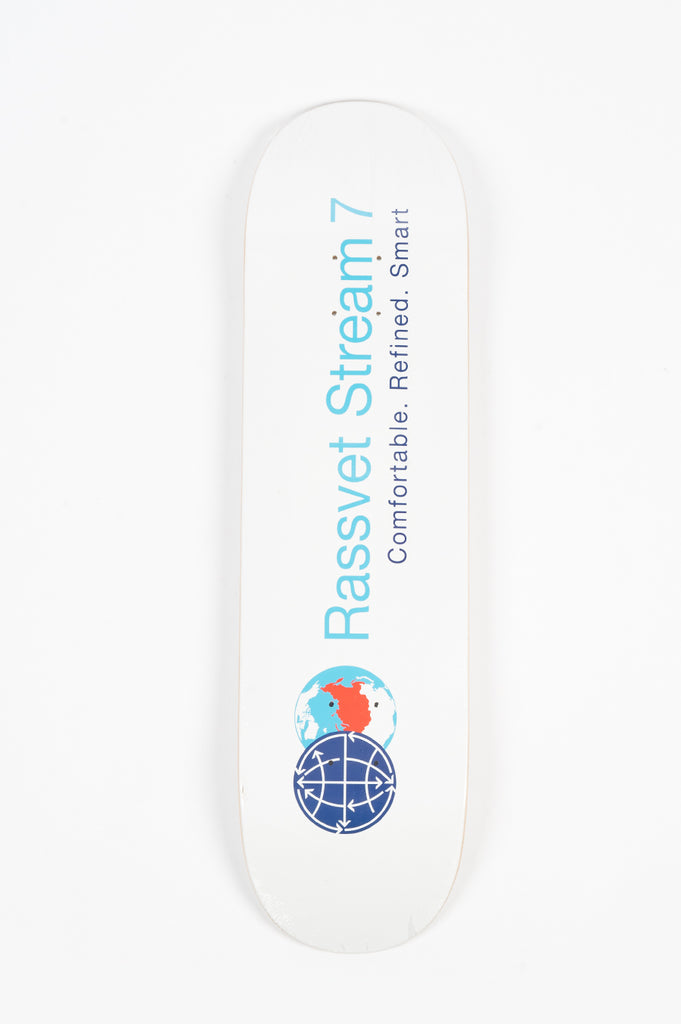RASSVET STREAM 7 SKATEBOARD WHITE