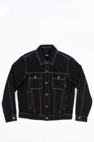 RASSVET 7 DENIM JACKET BLACK