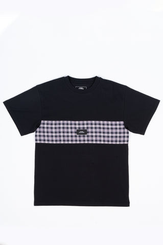 RASSVET 7 PLAID BOX SS T-SHIRT BLACK