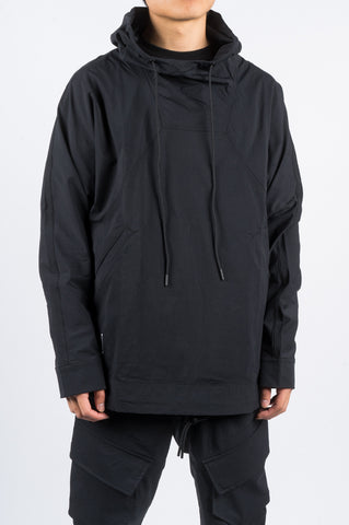 REIGNING CHAMP X JIDE OSIFESO KNIT STRETCH NYLON ANORAK BLACK - BLENDS