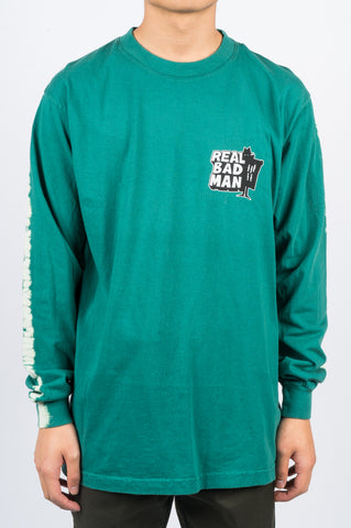 REAL BAD MAN LOGO VOL. 4 TD LS TEE GREEN - BLENDS
