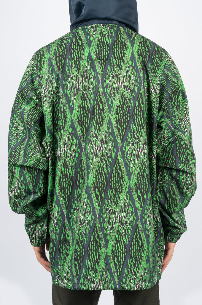 REAL BAD MAN JUNGLETIME ANORAK JUNGLE GREEN - BLENDS