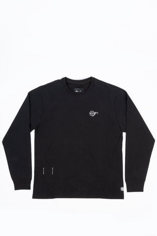 REIGNING CHAMP X JIDE OSIFESO HEAVY JERSEY NOTE LONG SLEEVE BLACK