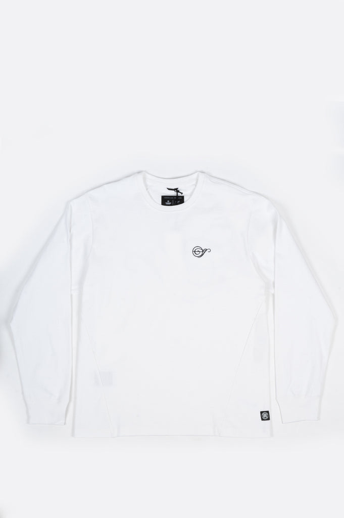 REIGNING CHAMP X JIDE OSIFESO HEAVY JERSEY NOTE LONG SLEEVE WHITE