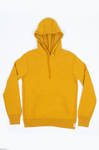REIGNING CHAMP KNIT LIGHTWEIGHT TERRY PULLOVER HOODIE MEDALLION