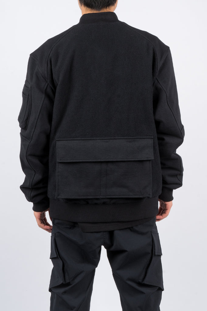 REIGNING CHAMP X JIDE OSIFESO HEAVY WEIGHT TERRY BOMBER JACKET BLACK - BLENDS