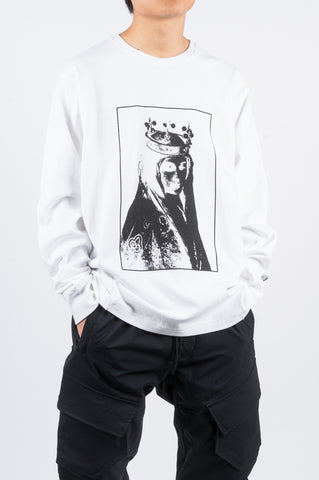 REIGNING CHAMP X JIDE OSIFESO HEAVY LS TSHIRT WHITE - BLENDS