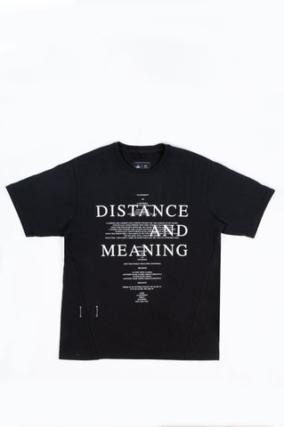 REIGNING CHAMP X JIDE OSIFESO HEAVY JERSEY DISTANCE T-SHIRT BLACK