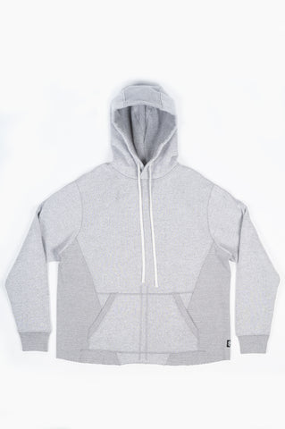 REIGNING CHAMP X JIDE OSIFESO KNIT TIGER FLEECE PULLOVER HOODIE GREY