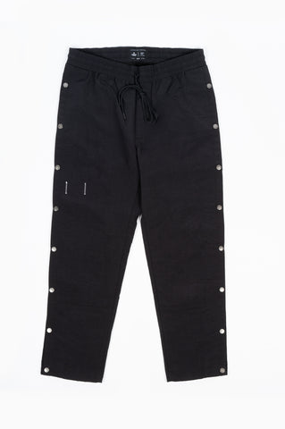 REIGNING CHAMP X JIDE OSIFESO WOVEN NYLON TEAR AWAY PANT BLACK
