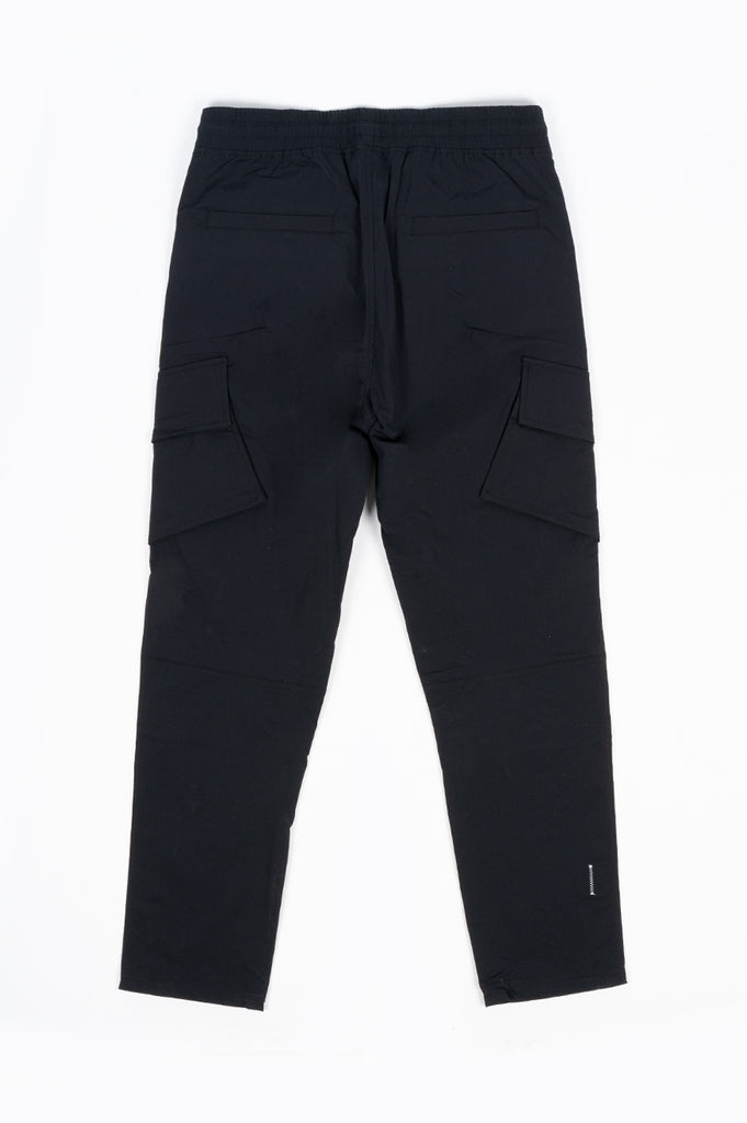 REIGNING CHAMP X JIDE OSIFESO  KNIT STRETCH NYLON CARGO PANT BLACK