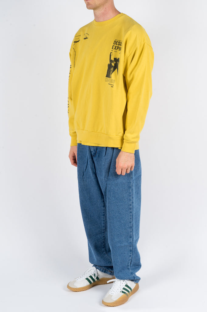 SECOND LAYER SOME VELVET PULLOVER CREW MAIZE