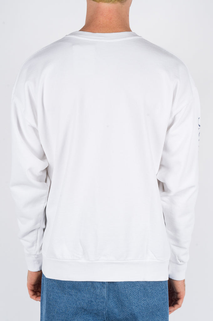 SECOND LAYER SOME VELVET PULLOVER CREW WHITE - BLENDS