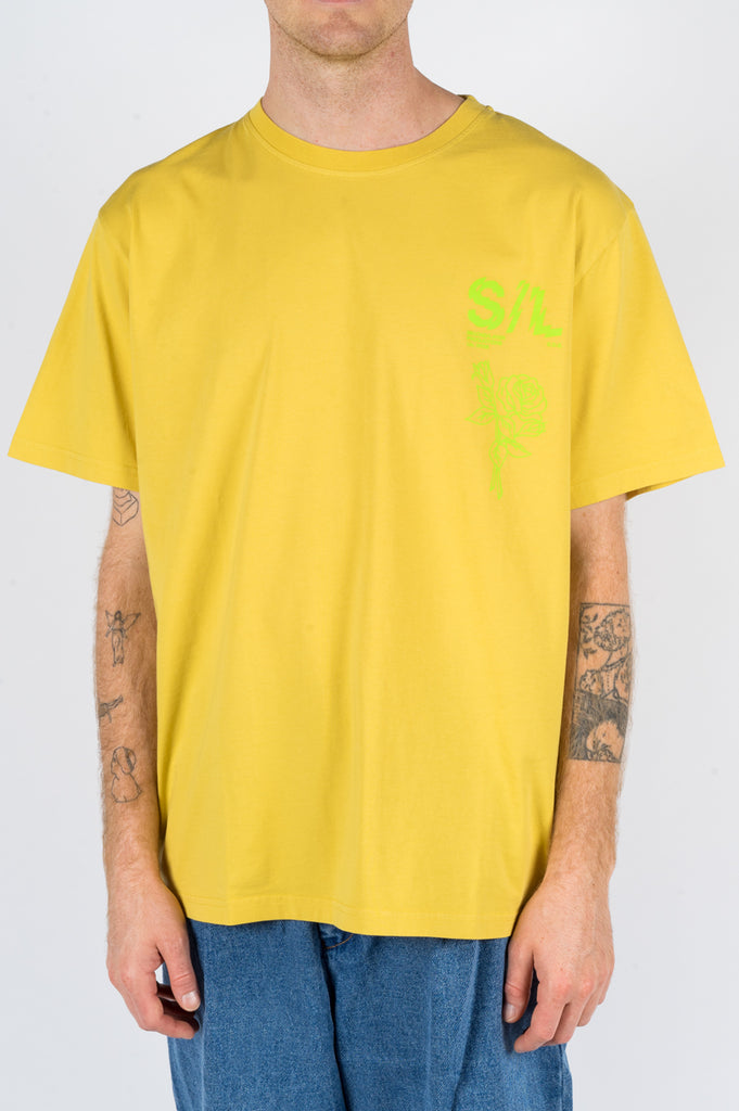 SECOND LAYER SHATTERED LOGO TSHIRT MAIZE - BLENDS