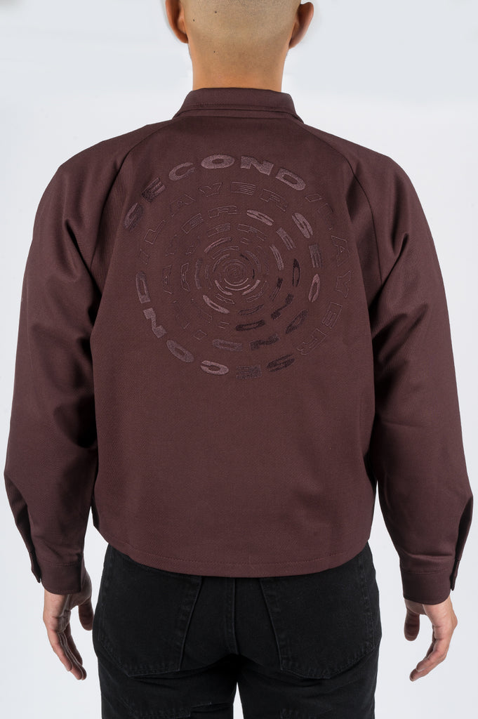 SECOND LAYER SPIRAL LOGO HARRINGTON BORDEAUX
