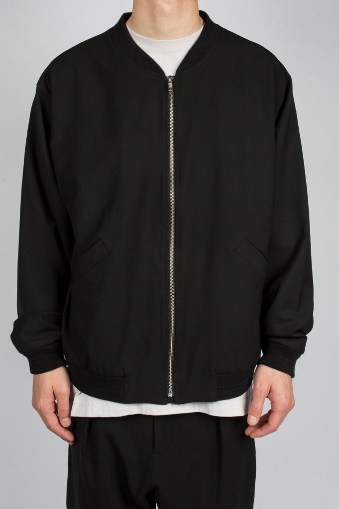SECOND LAYER OVER SIZED BOMBER JACKET BLACK