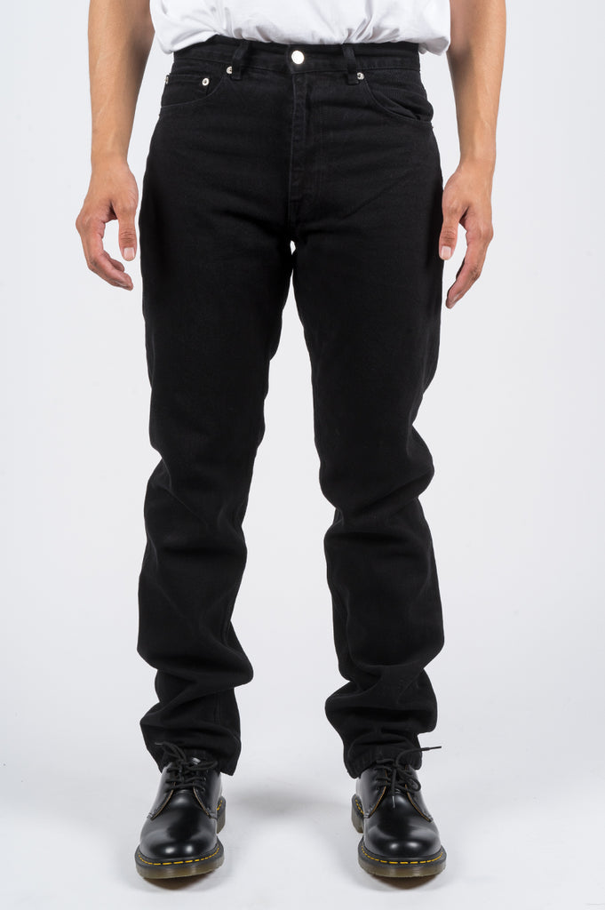 SECOND LAYER CLASSIC TYPE 1 DENIM PANT BLACK STONE WASH