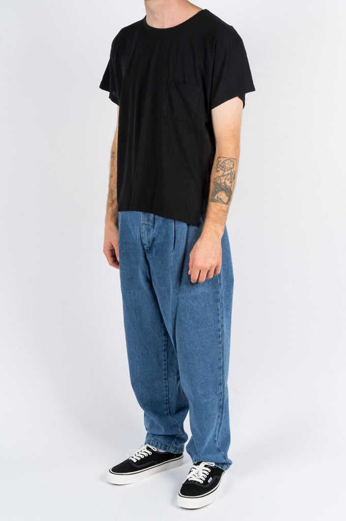 SECOND LAYER CAP SLEEVE TSHIRT BLACK - BLENDS